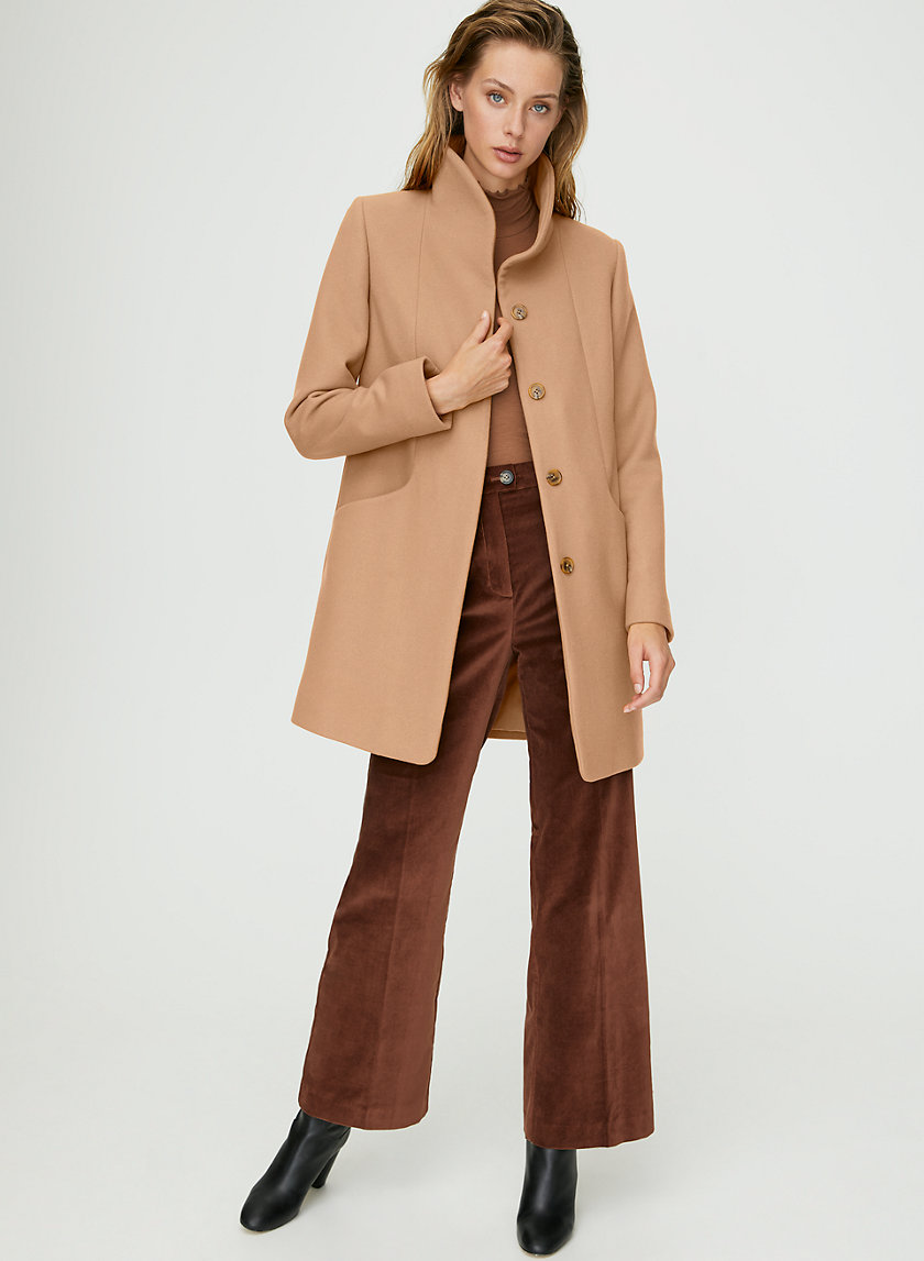 COCOON WOOL COAT - Virgin-wool and cashmere coat