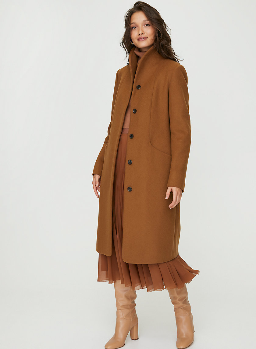 COCOON WOOL COAT LONG - Wool-cashmere long coat