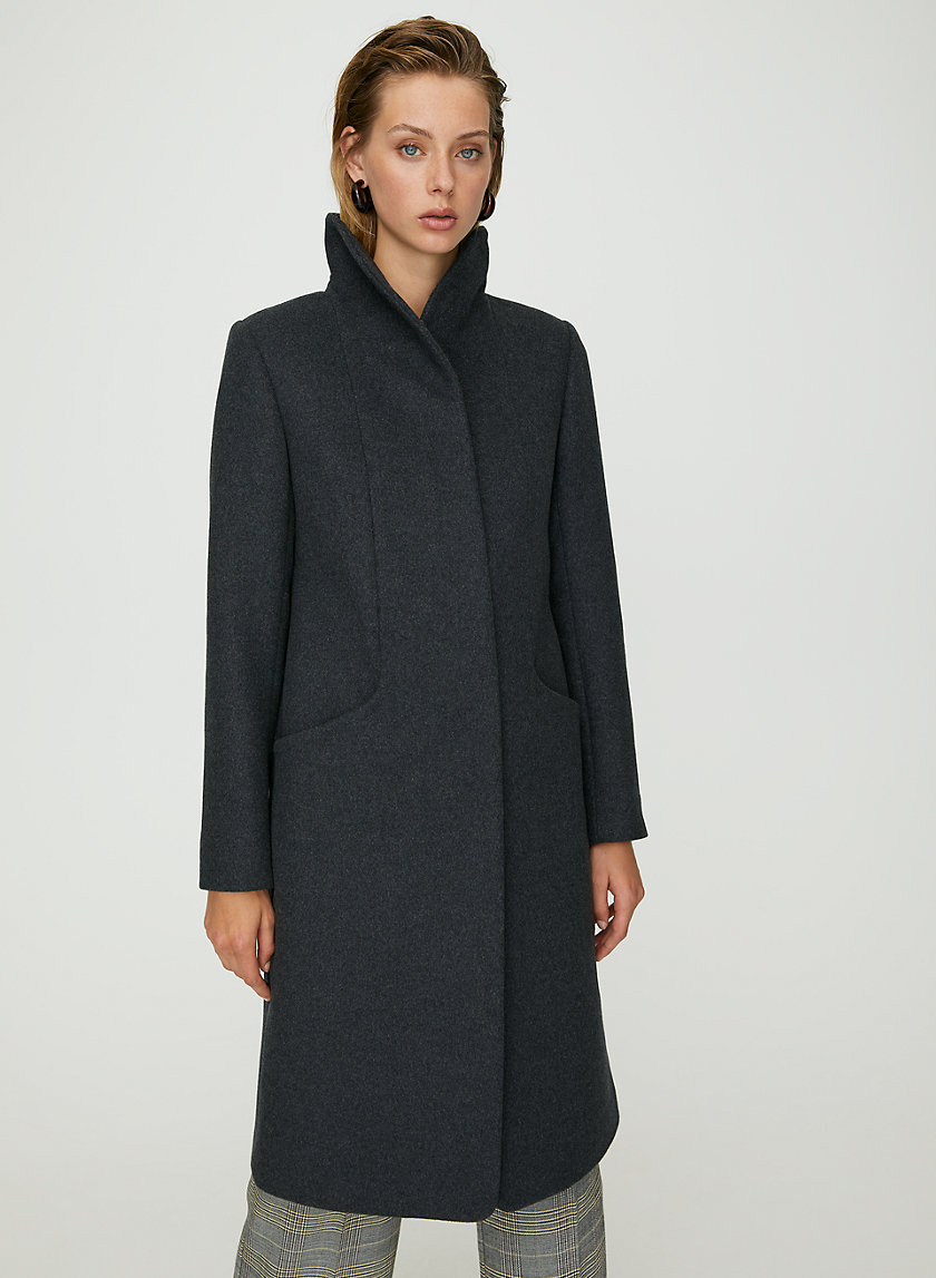 COCOON WOOL COAT LONG - Wool-cashmere long coat