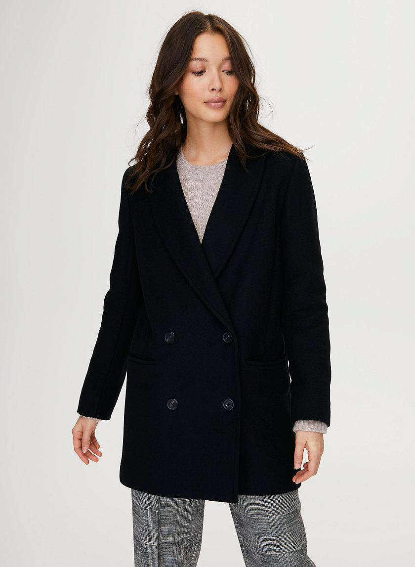REEVES WOOL COAT - Double-breasted wool coat