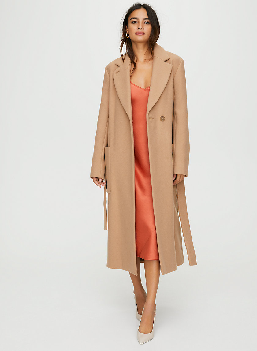 CARLYLE WOOL COAT - Wool wrap overcoat