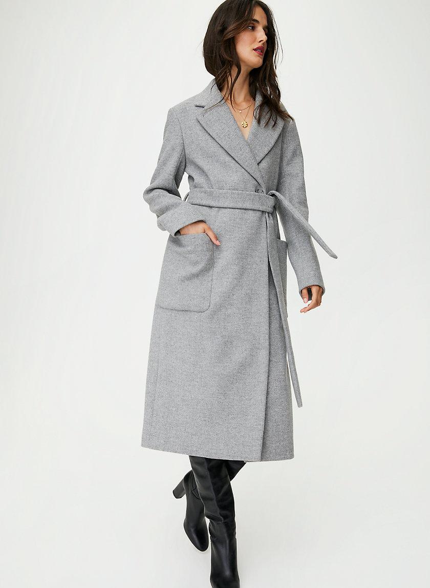 CARLYLE WOOL COAT - Wool wrap overcoat