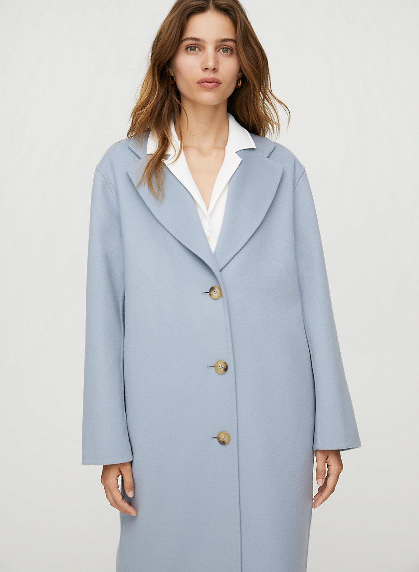JULIEN WOOL COAT - Mid-length wool-cashmere coat
