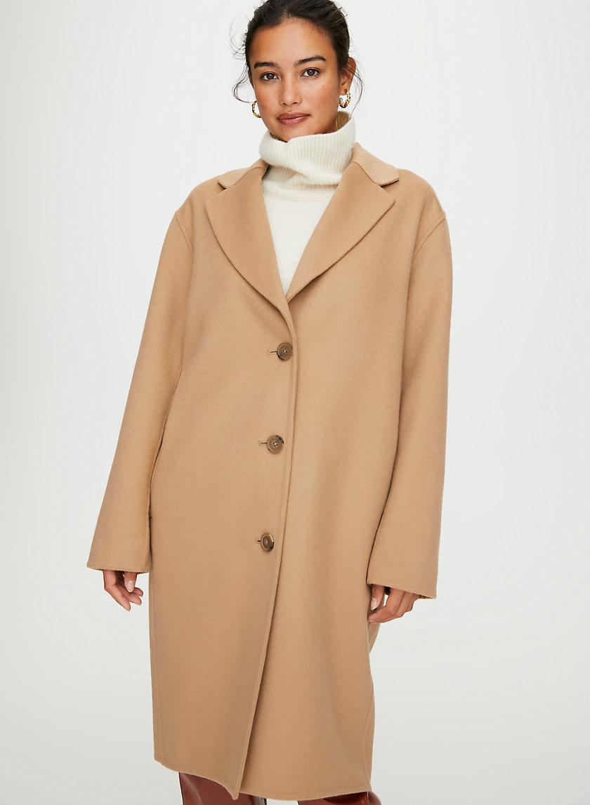 JULIEN WOOL COAT - Classic wool-cashmere coat
