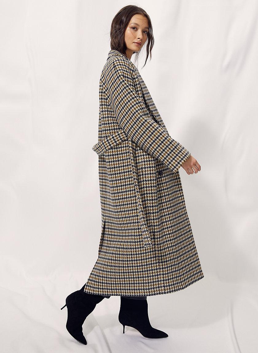 PRESCOTT WOOL COAT - Menswear houndstooth wool coat