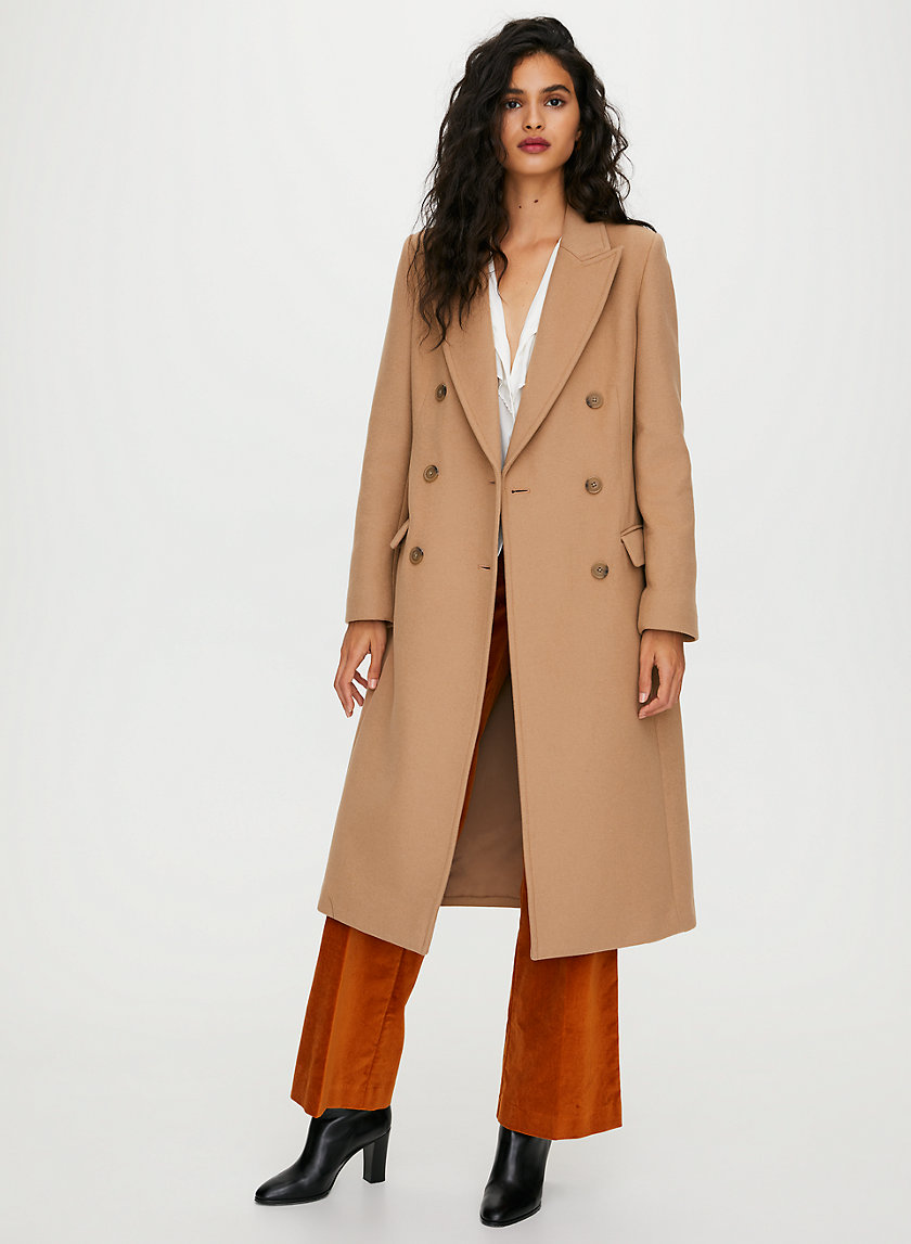 KERR WOOL COAT - Double-breasted wool maxi coat