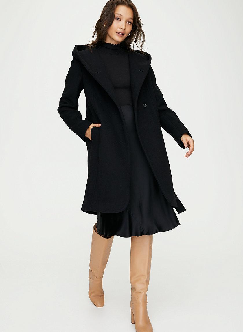 MONTGOMERY WOOL COAT - Hooded wool coat
