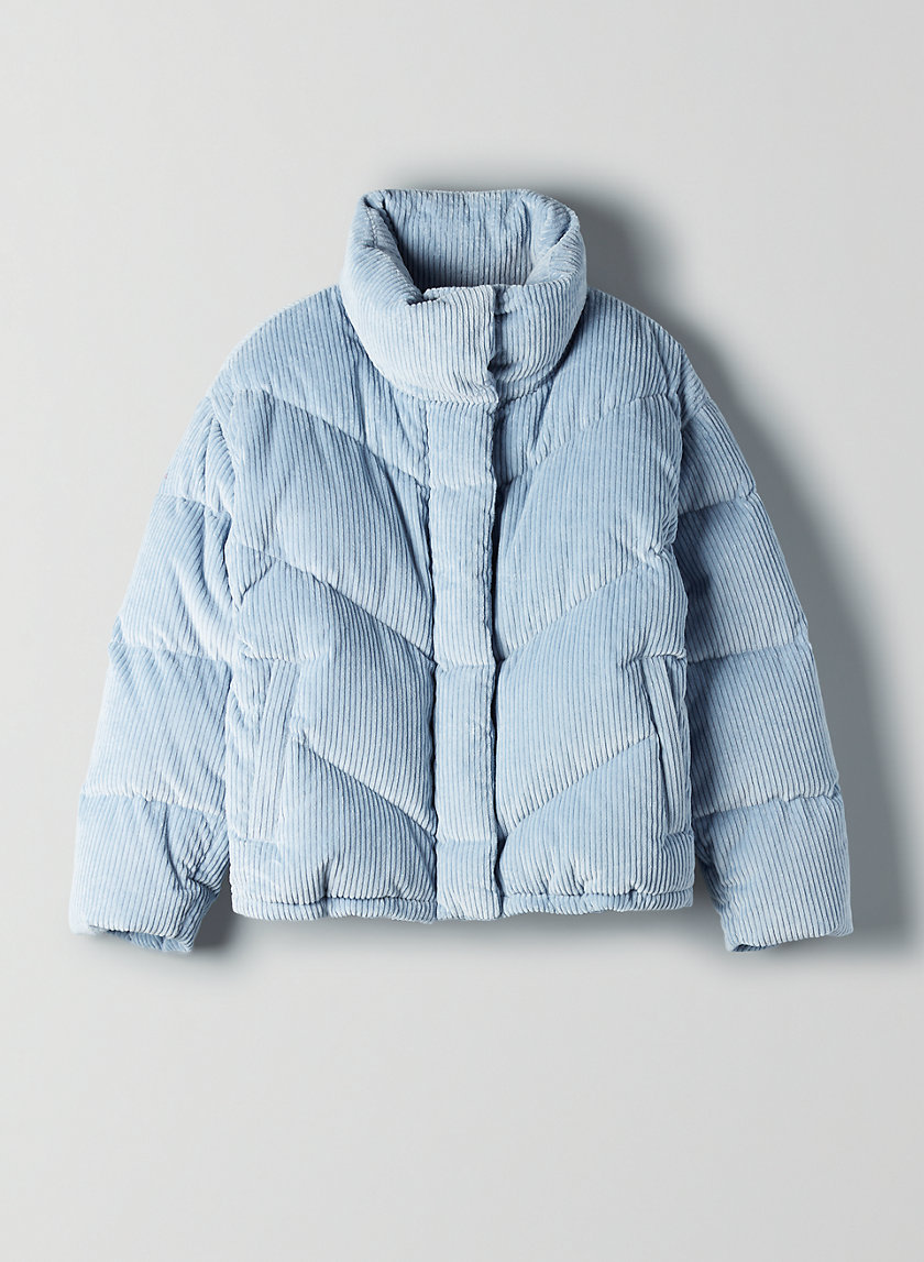 THE CLOUD PUFF - Corduroy goose-down puffer jacket