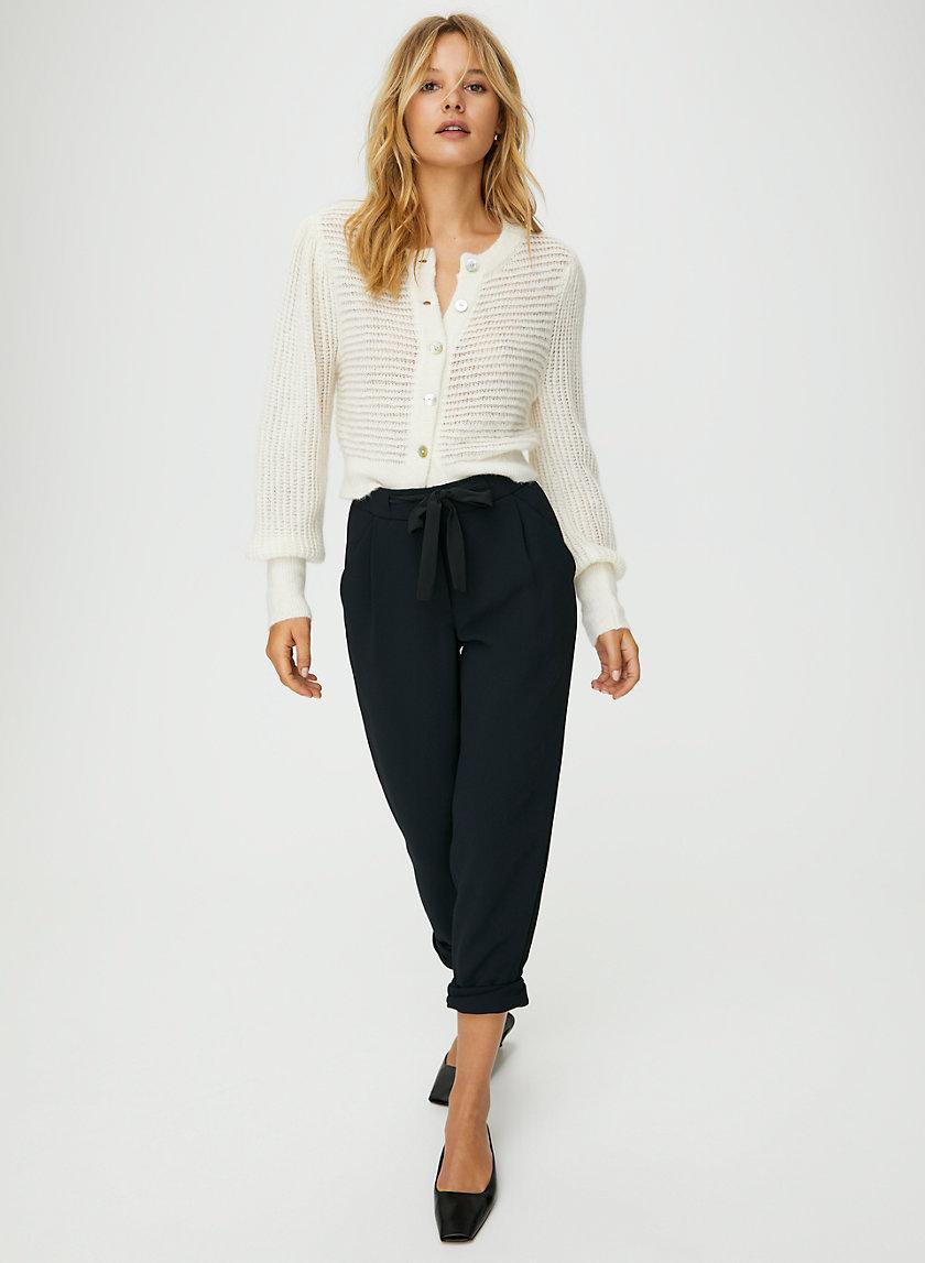 ALLANT PANT - Cropped, tie-waist pant