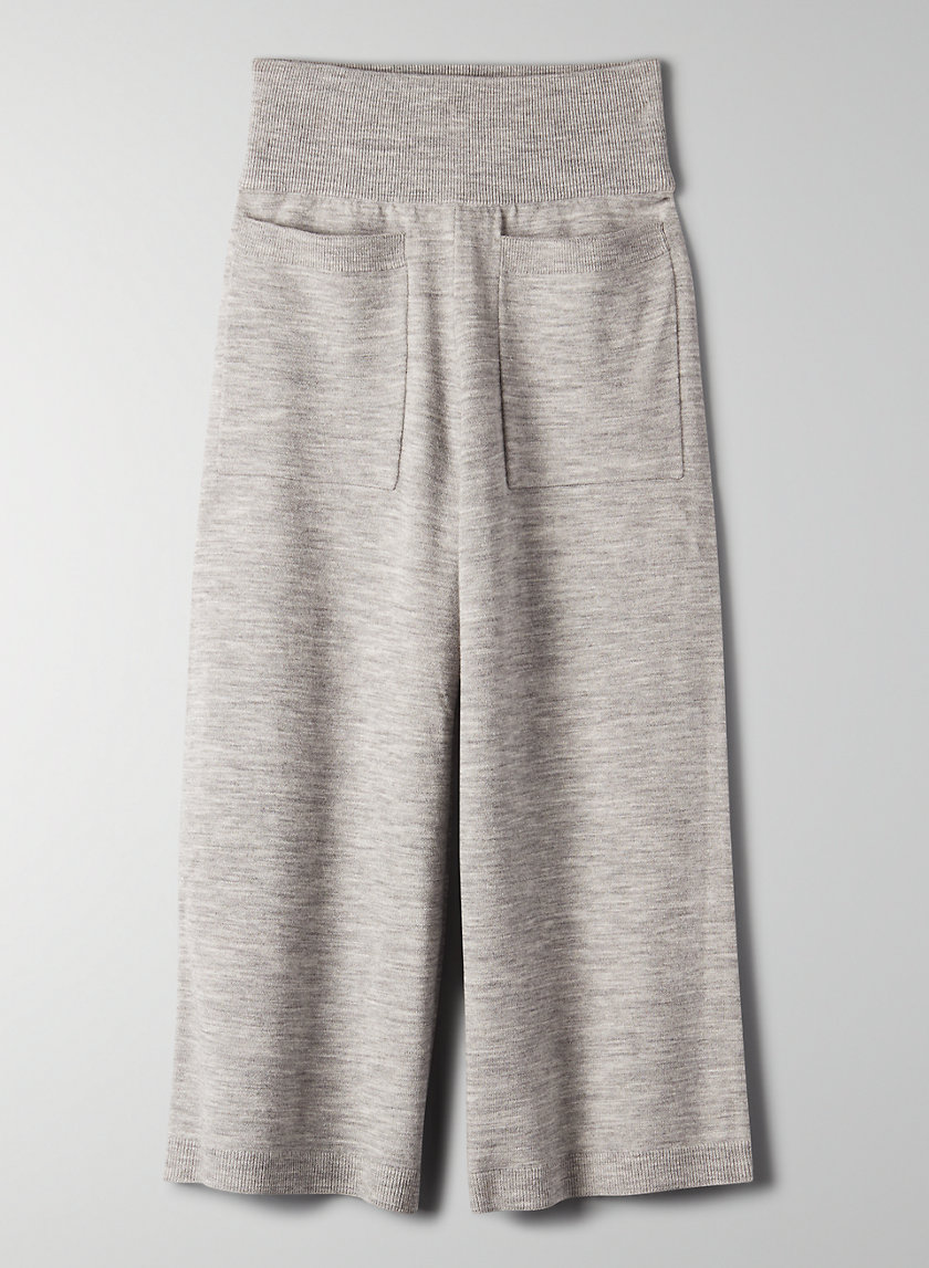 BRION PANT - Cropped, high-waisted, merino-wool pant