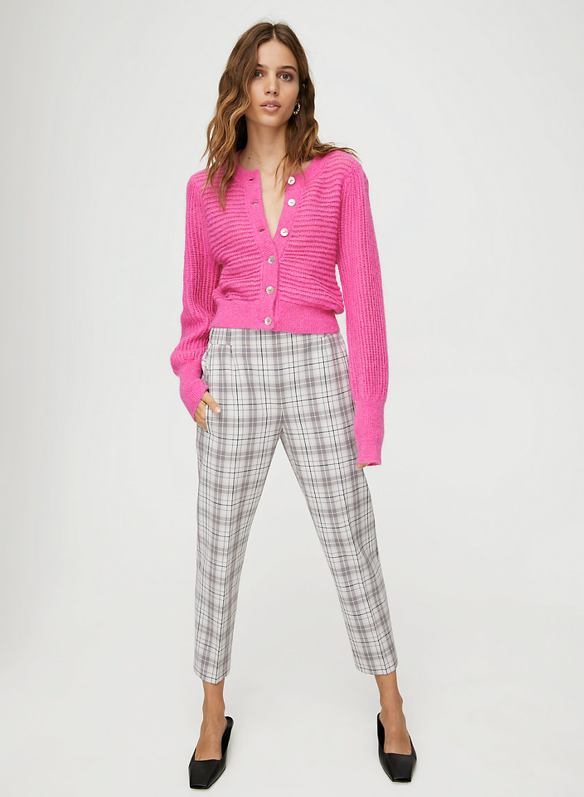 DARONTAL PANT - Cropped, plaid dress pant
