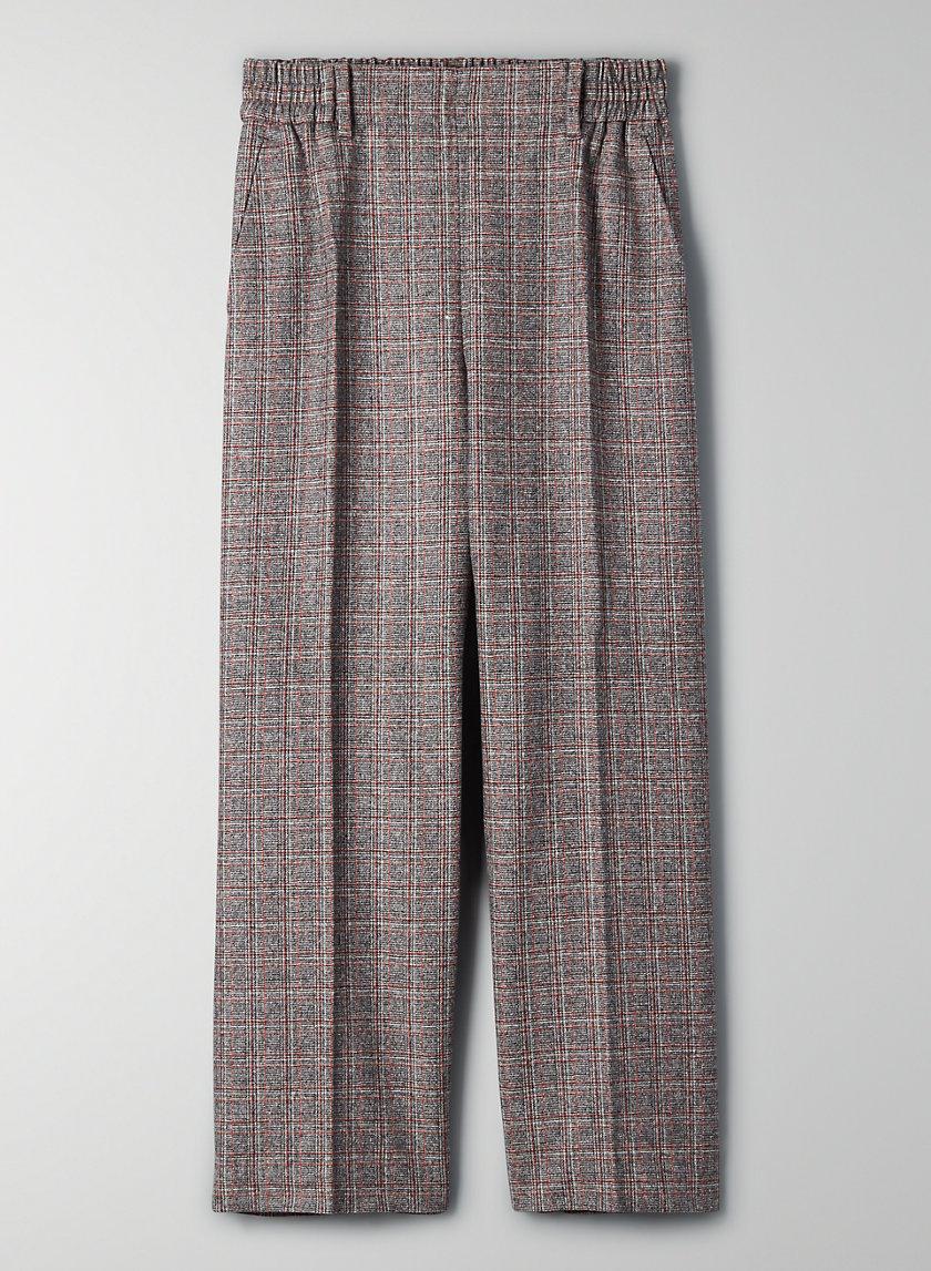 JOLI PANT - Cropped, high-waisted, wool-blend pant