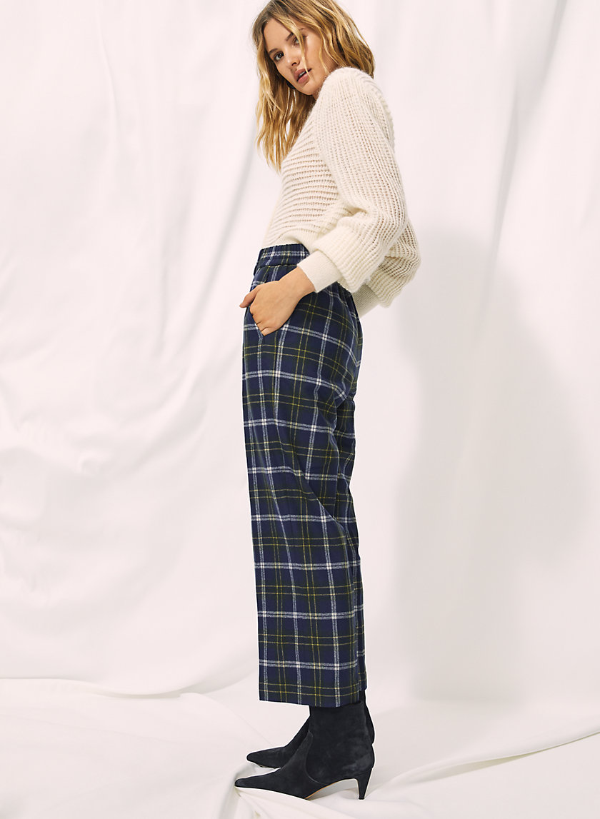 EASY PANT - Cropped, high-waisted, wool-blend pant
