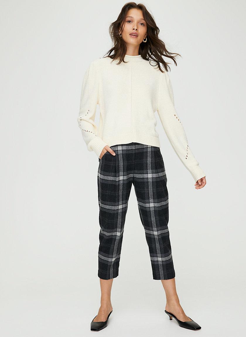 CHAMBERY CHECK PANT - Plaid wool trousers