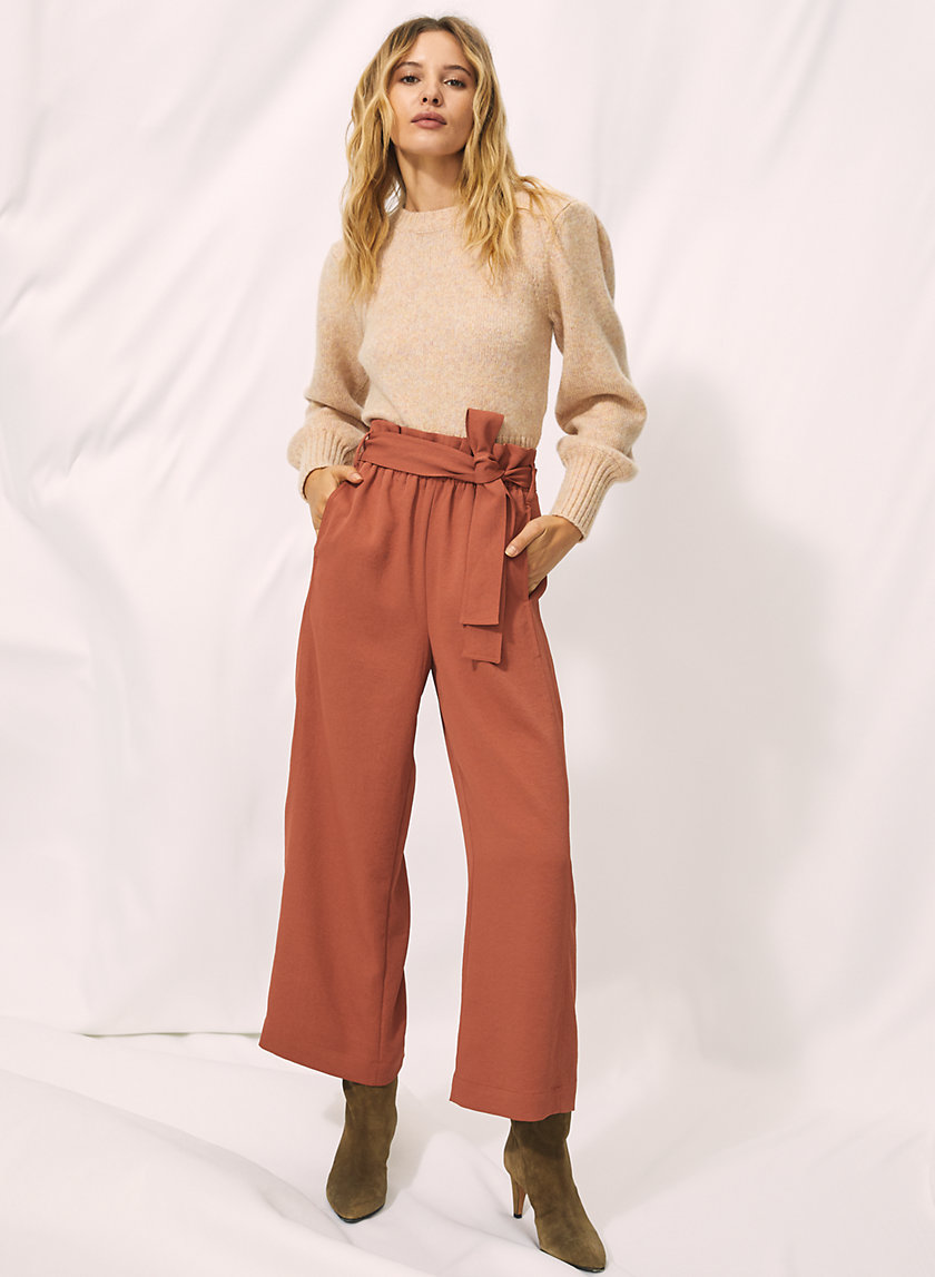 PAPERBAG PANT - Cropped, wide-leg trousers
