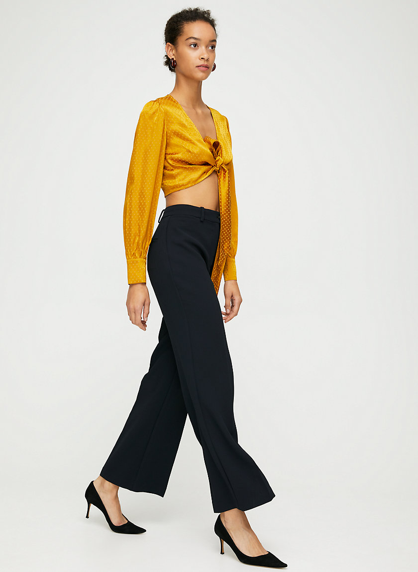 FRANCESCA PANT - High-waisted wide-leg pant