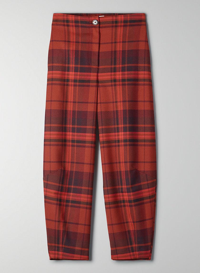 DAWNA CHECK PANT - High-waisted balloon pant