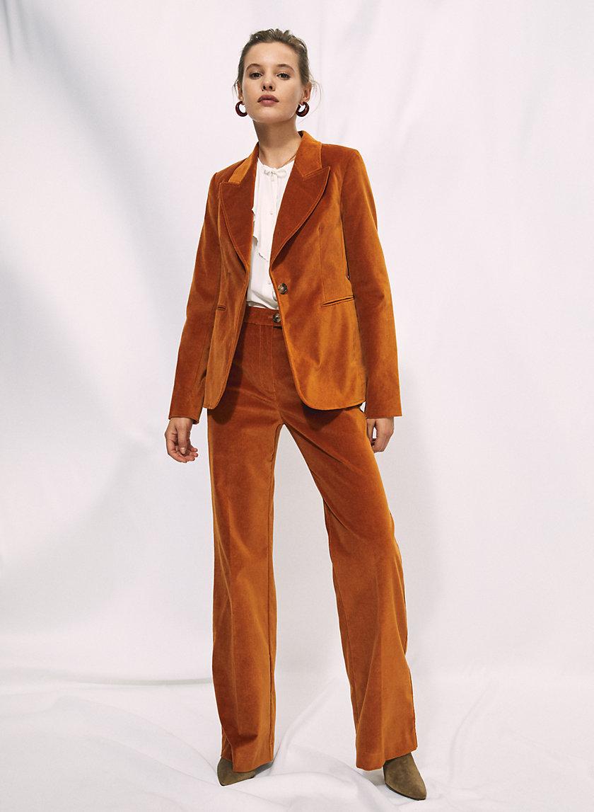 FRANCESCA VELVET PANT - High-waisted, velvet pant
