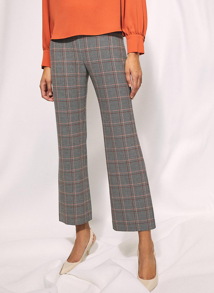 NEW KICK FLARE CHECK PANT - Checkered kick flare pants