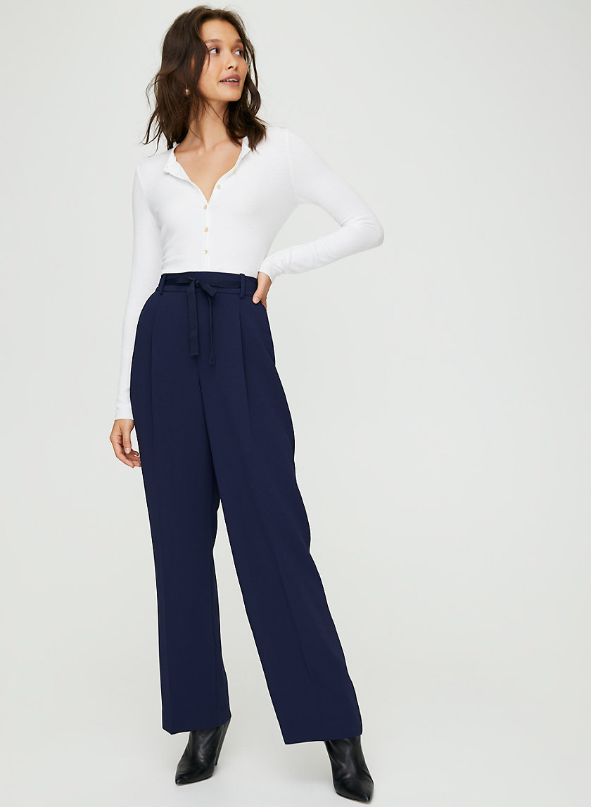JACQUELINE PANT - High-waisted straight-leg pants