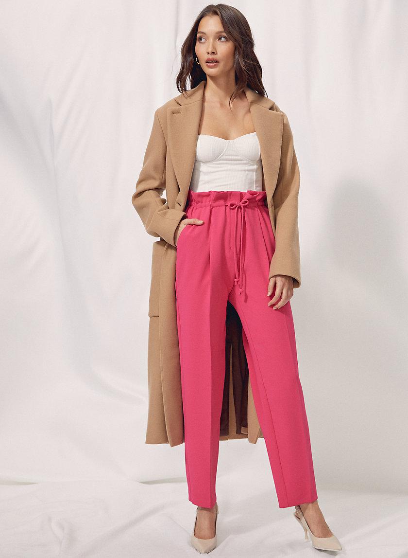 ALTO PANT - Paper-bag waist pants