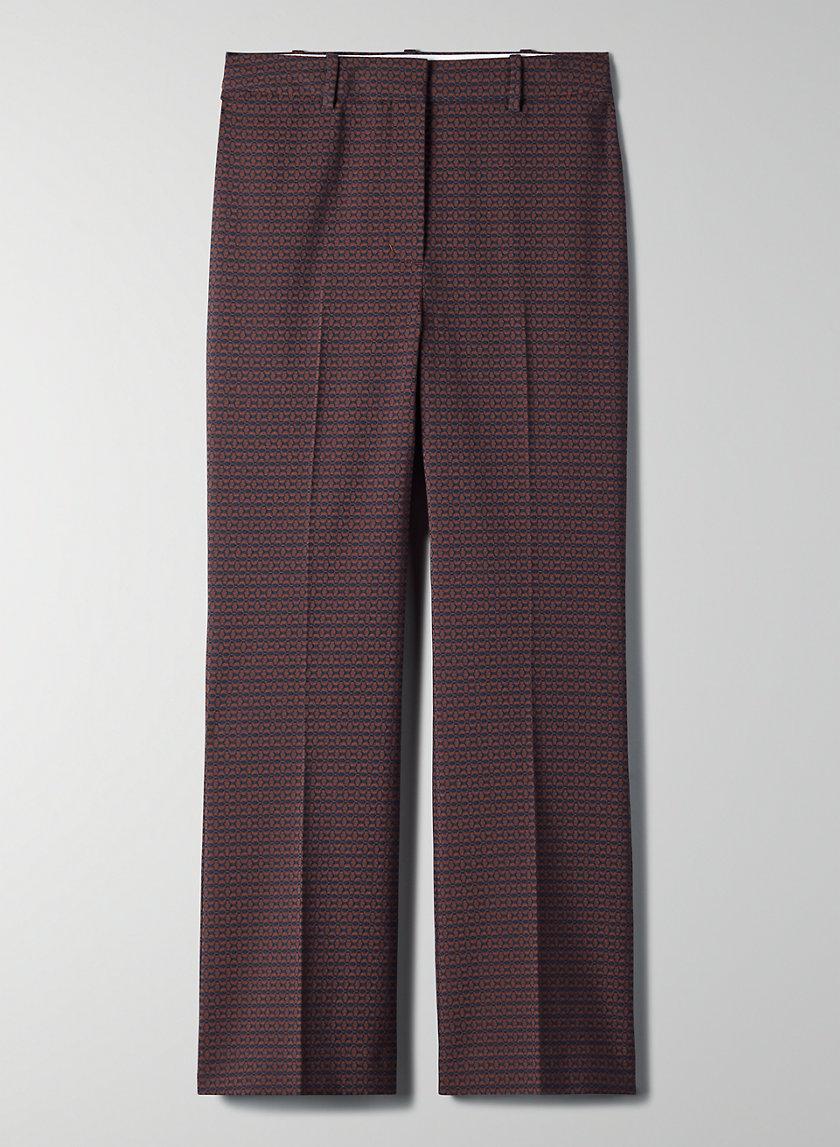 BAROQUE PANT - High-rise jacquard trousers