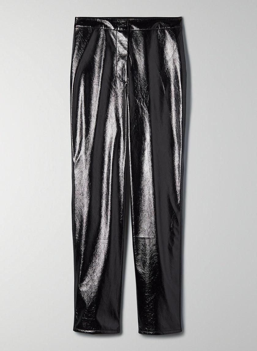 TEMPEST PANT - High-rise vinyl pants