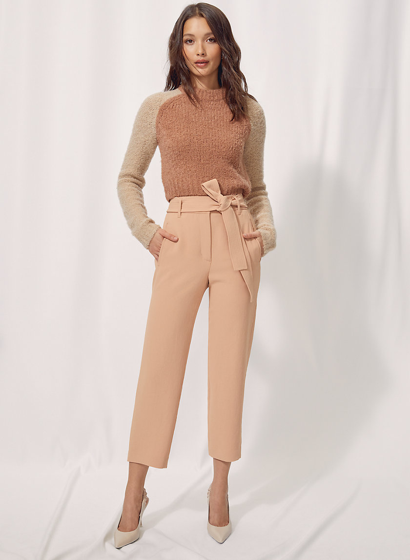 NEW TIE-FRONT PANT - Cropped high-waisted pants