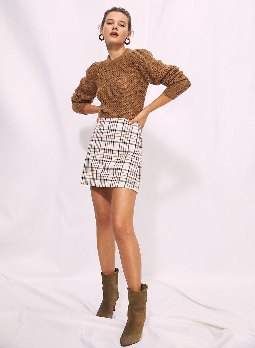 NEW CLASSIC CHECK MINI SKIRT - Plaid A-line mini-skirt