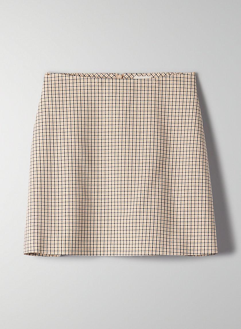 RENÉE SKIRT - Plaid A-line mini skirt