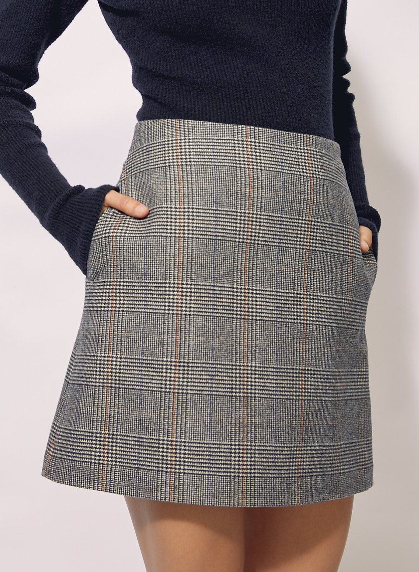 NEW CLASSIC CHECK MINI SKIRT - Wool-blend check mini skirt