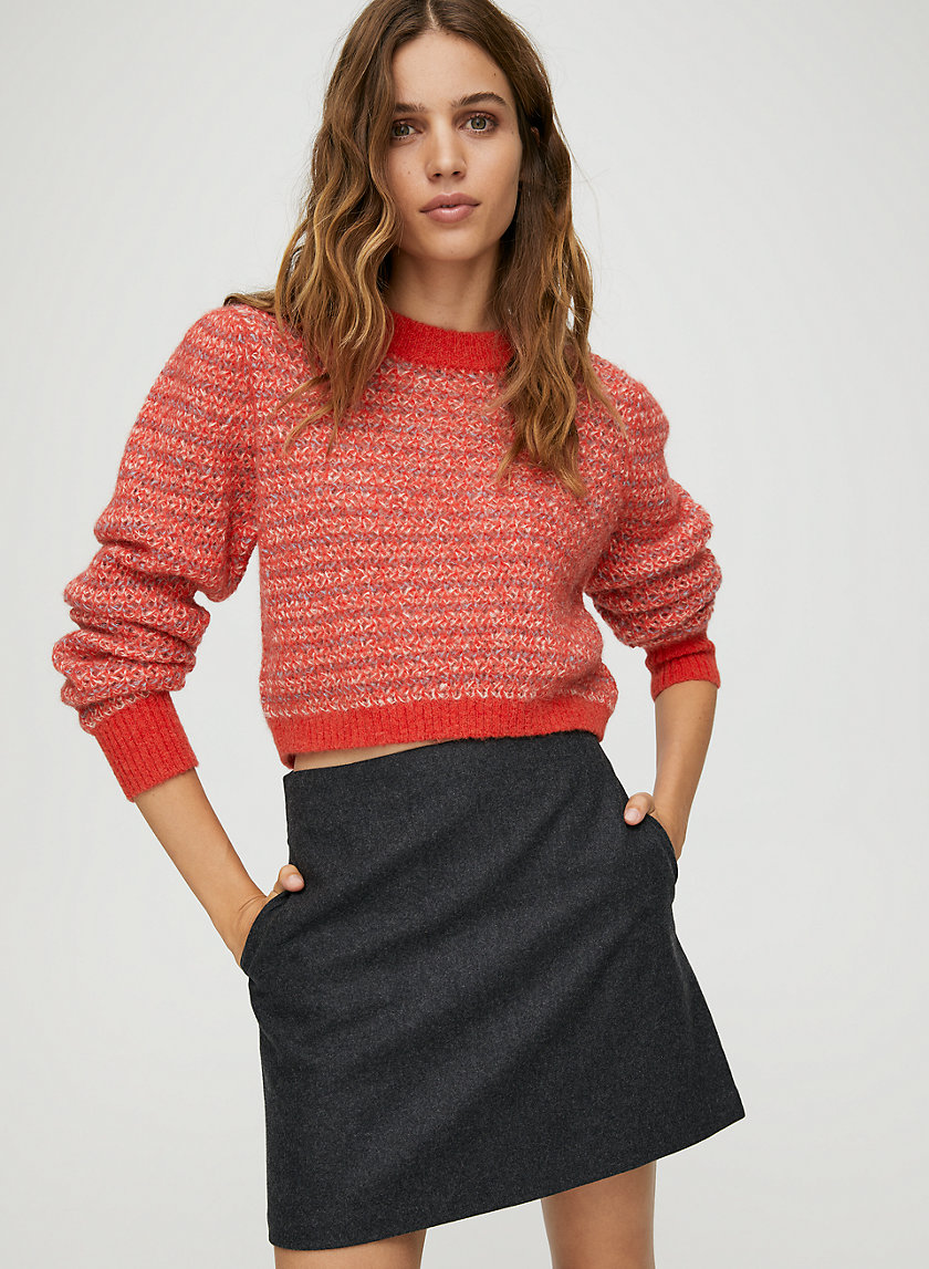 RENÉE CHECK SKIRT - Wool-blend check mini skirt