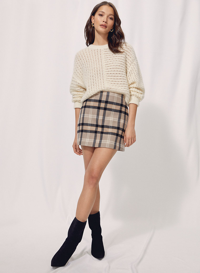 NEW CLASSIC MINI SKIRT - Checkered mini-skirt