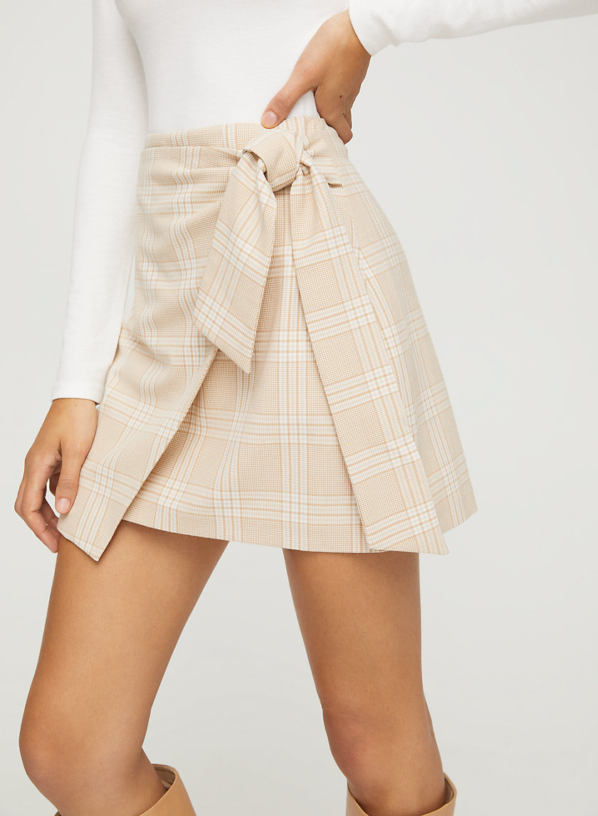 DORINE SKIRT - Faux-wrap mini skirt