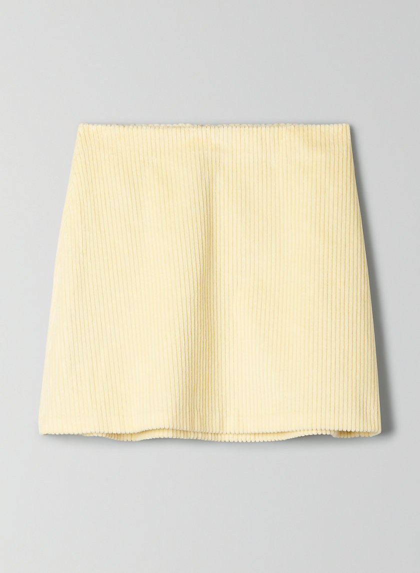 RENÉE SKIRT - Corduroy mini-skirt