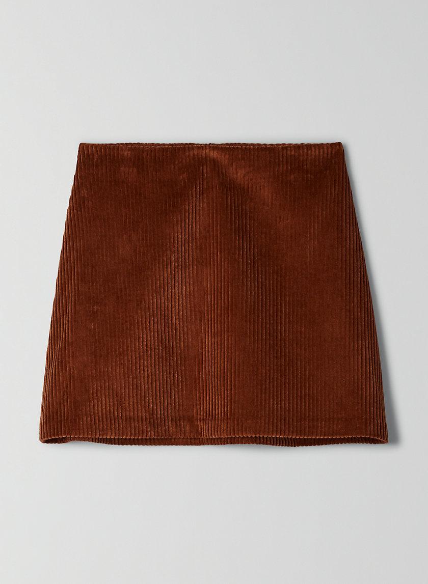 RENÉE SKIRT - Corduroy mini-skirt
