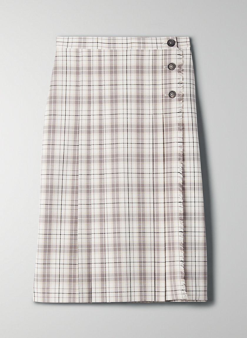 TRISSY CHECK SKIRT - A-line plaid skirt