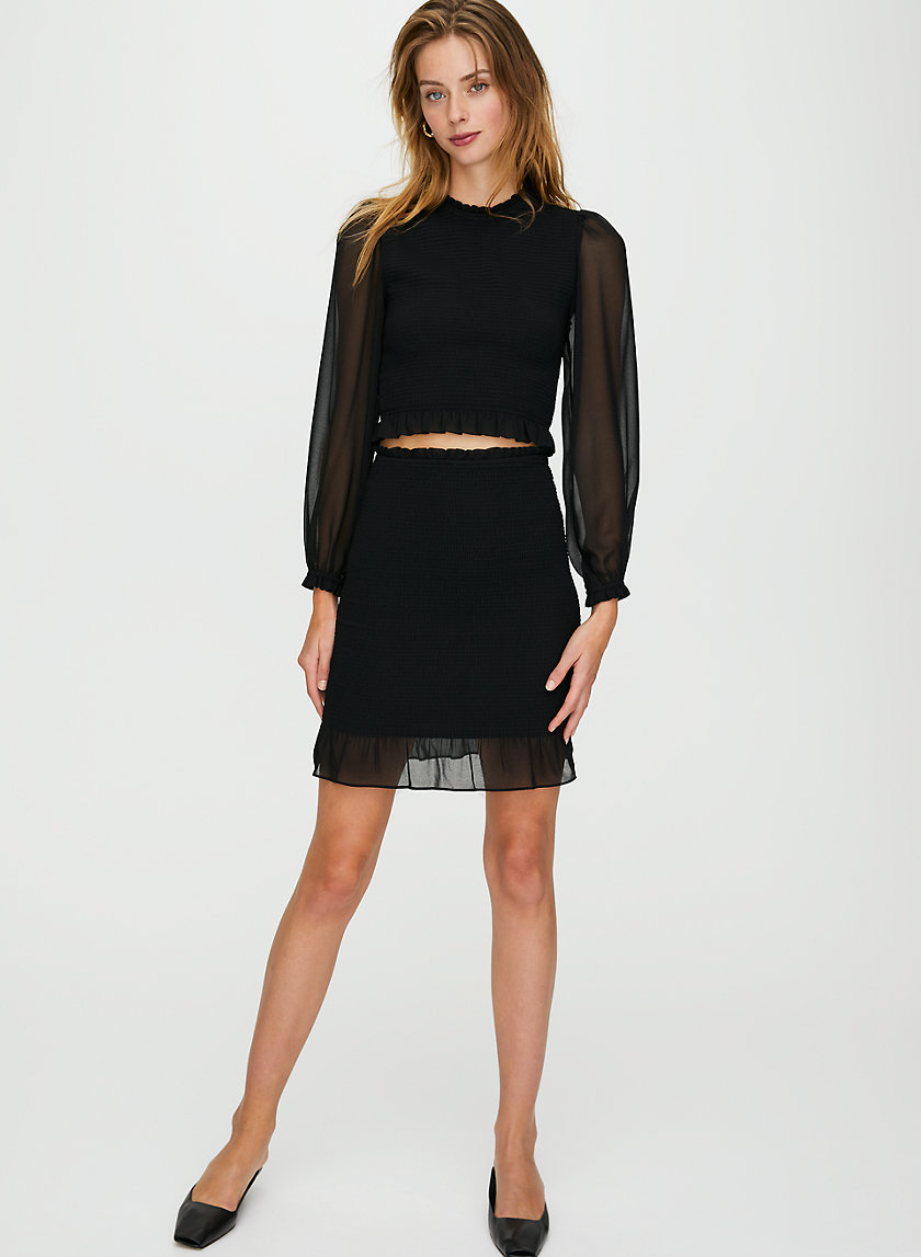 BALLAD SKIRT - Ruffled bodycon skirt