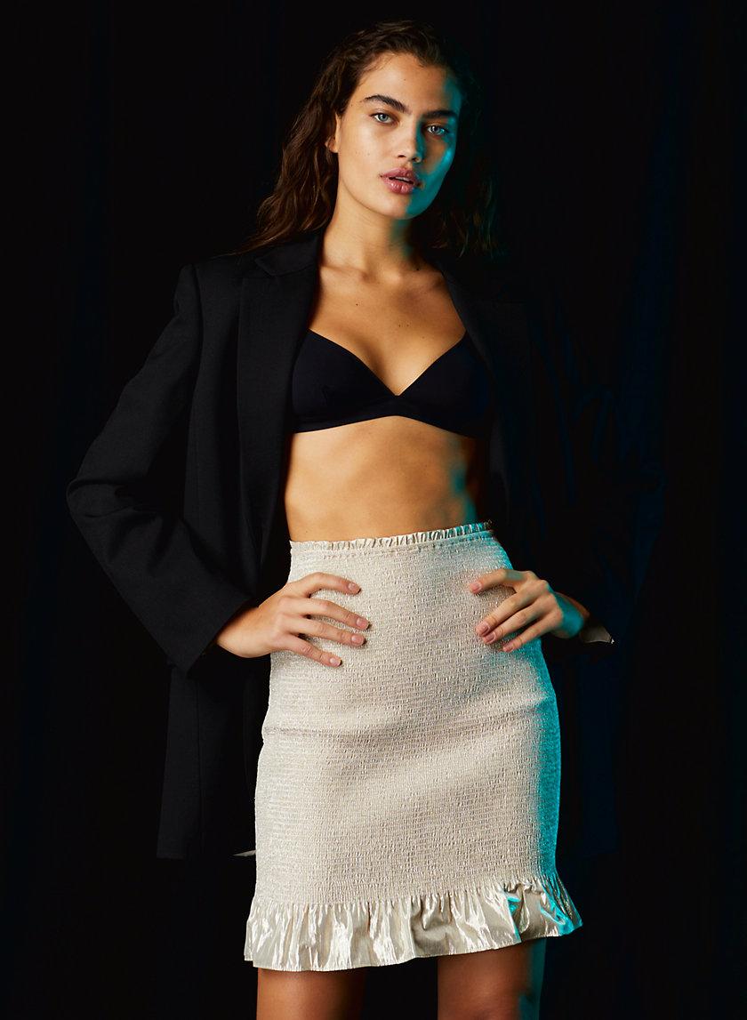 BALLAD SKIRT - Metallic ruffle skirt