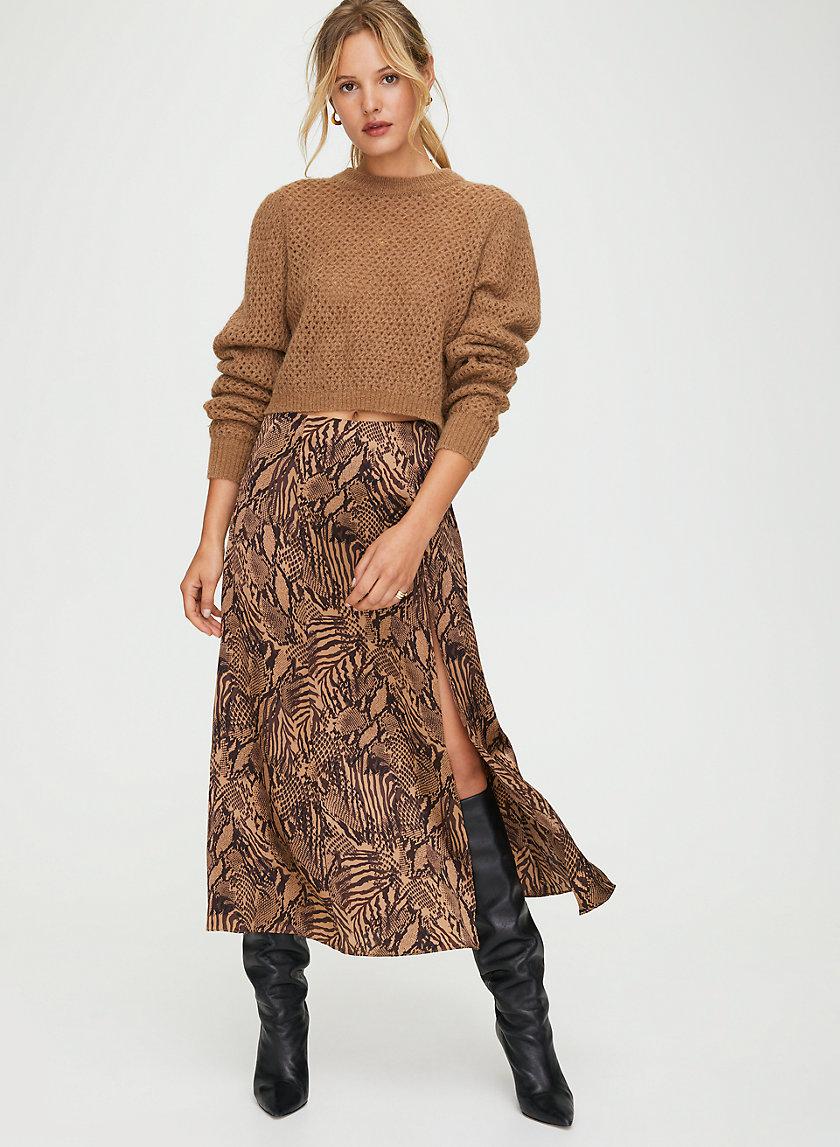 CHERIE SKIRT - Animal-print midi skirt