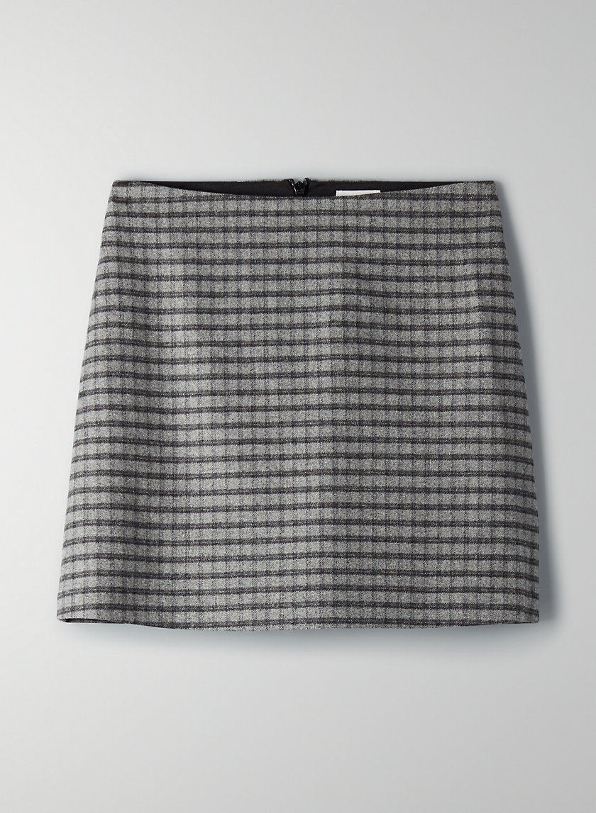 NEW CLASSIC CHECK MINI SKIRT - Wool flannel mini skirt