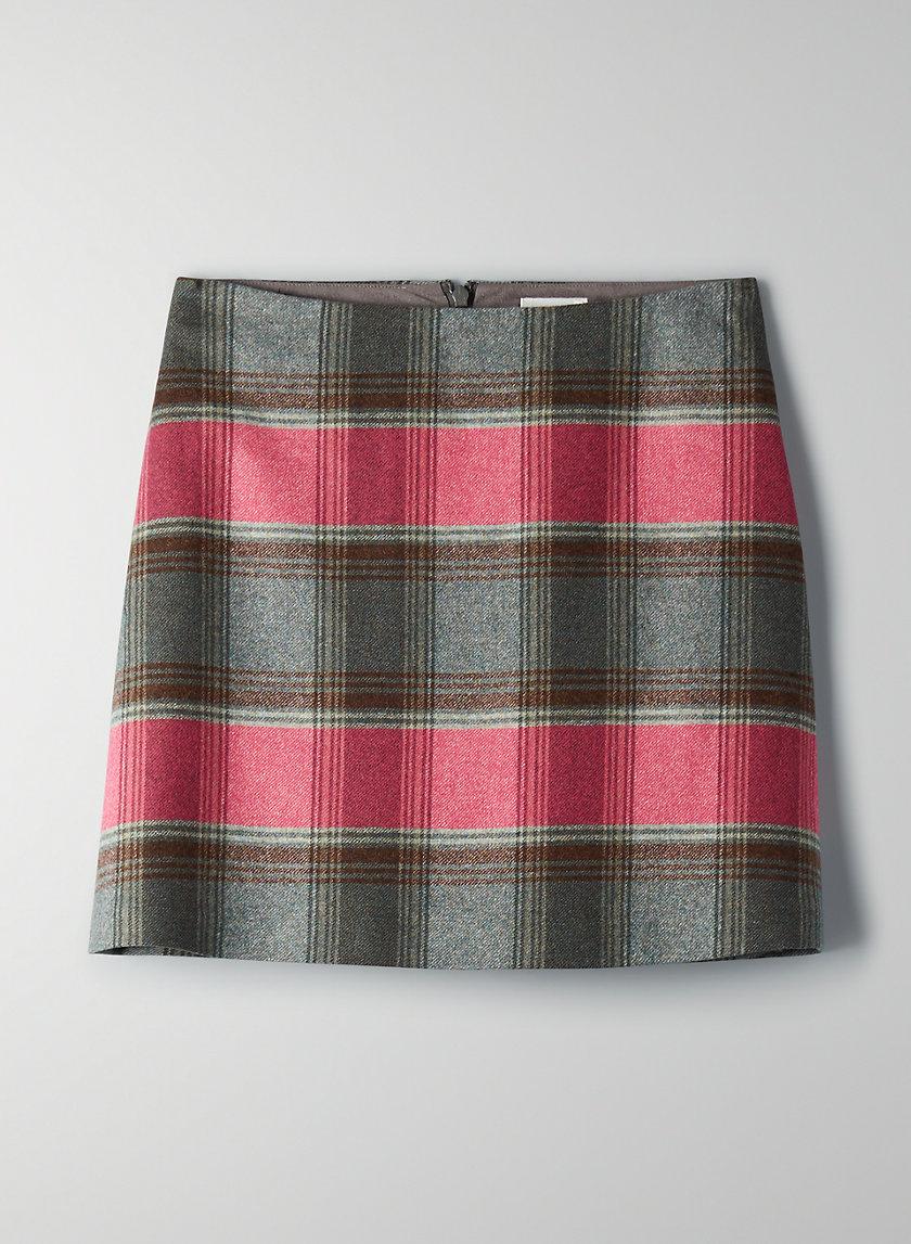 NEW CLASSIC CHECK MINI SKIRT - Wool flannel mini skirt