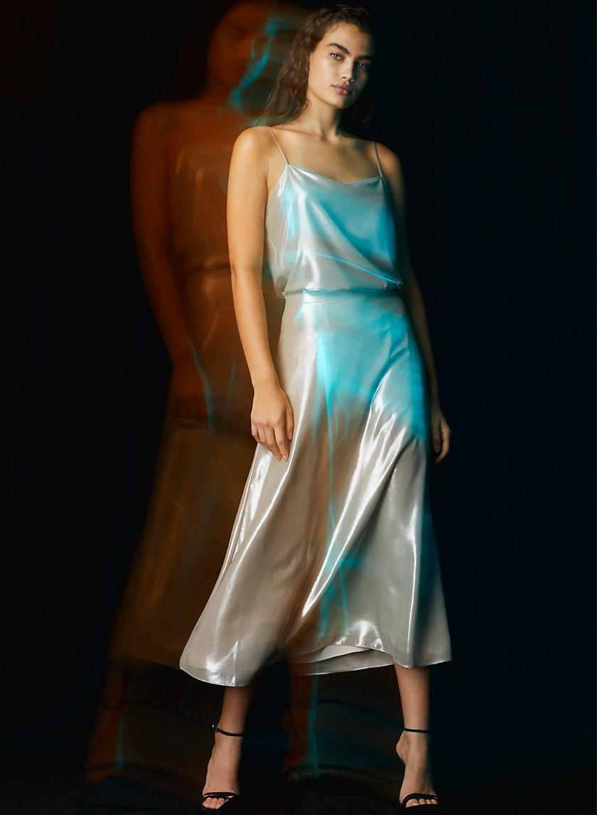 MIDI SKIRT - Foil-printed midi skirt