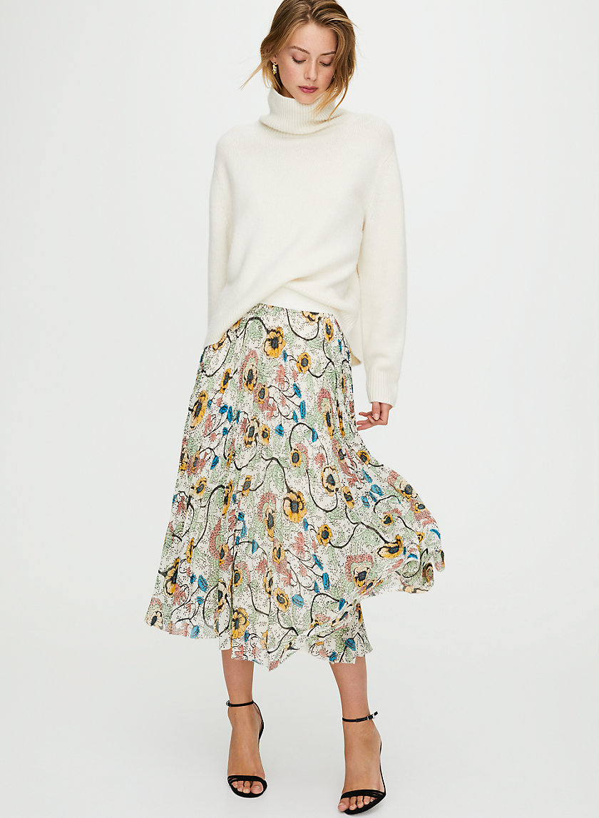 TWIRL SKIRT - Pleated midi skirt