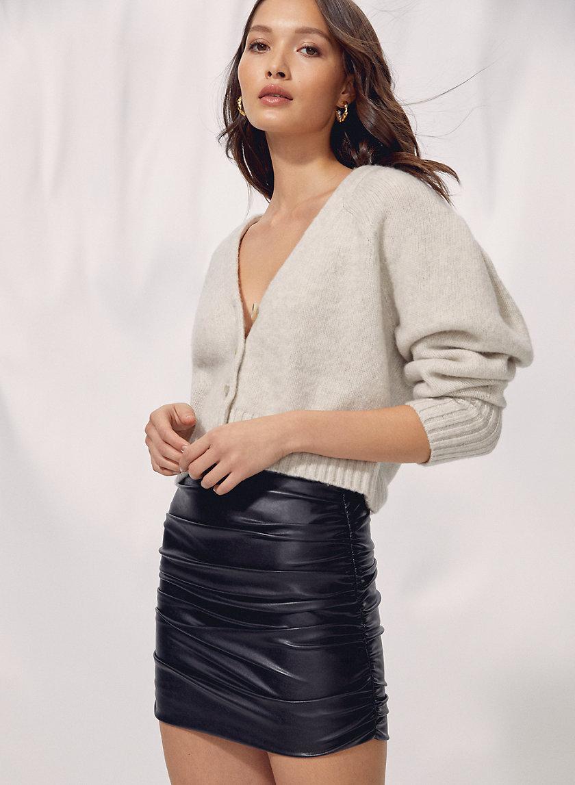 HARLEQUIN SKIRT - Faux leather mini