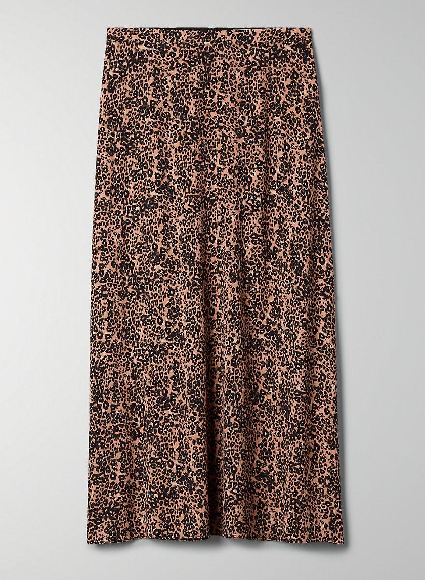 MIDI SKIRT - Animal-print A-line skirt