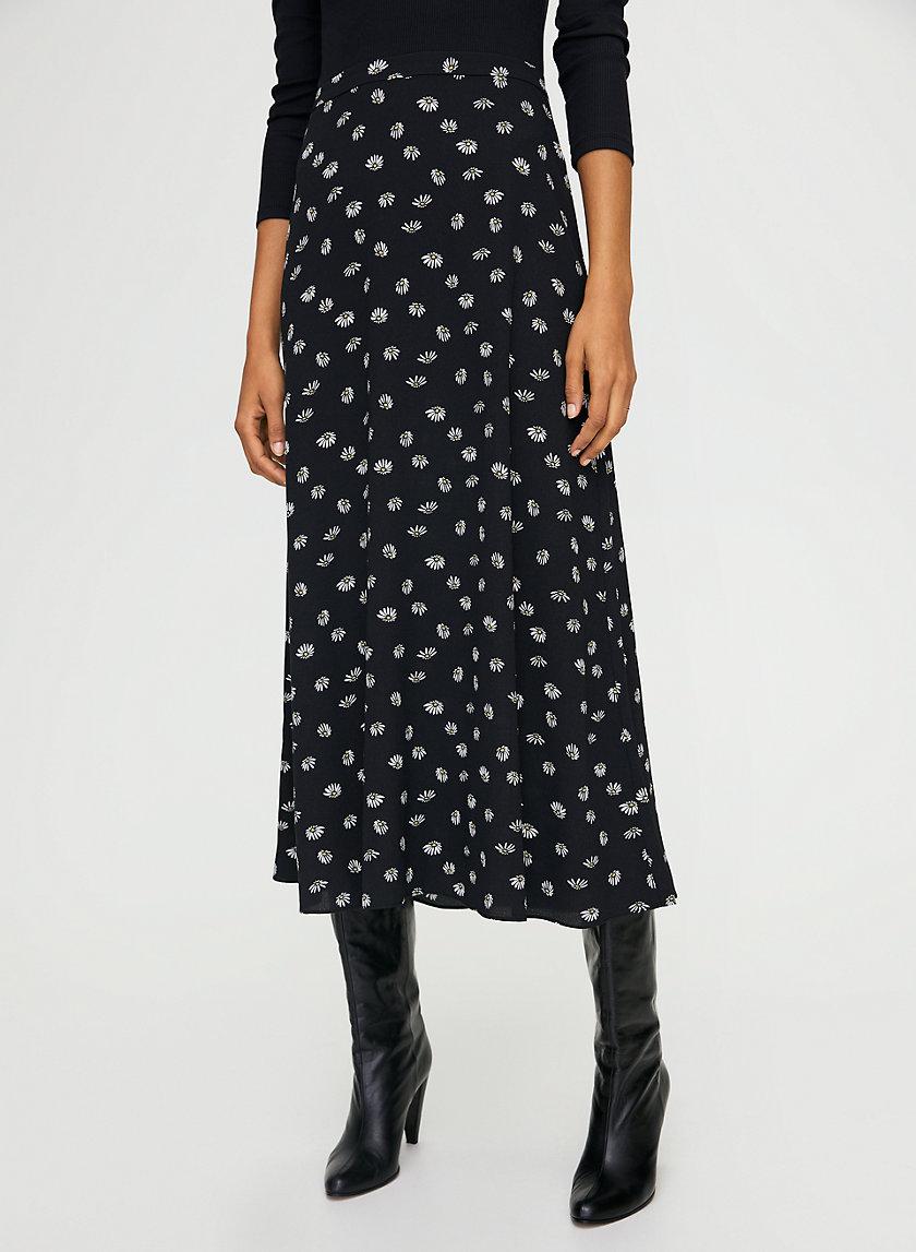 MIDI SKIRT - Floral-print A-line skirt