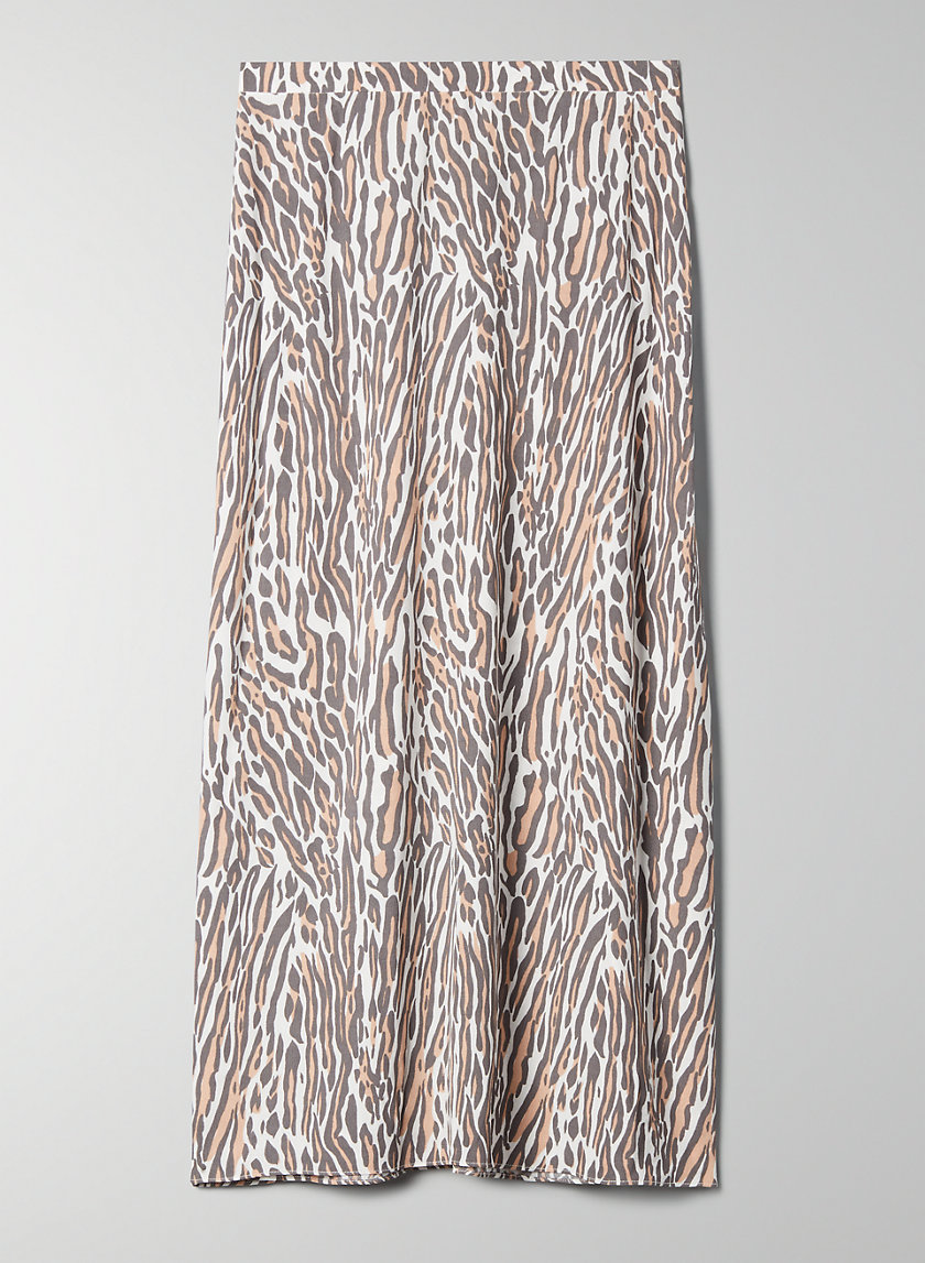 MIDI SKIRT - A-line leopard-print skirt