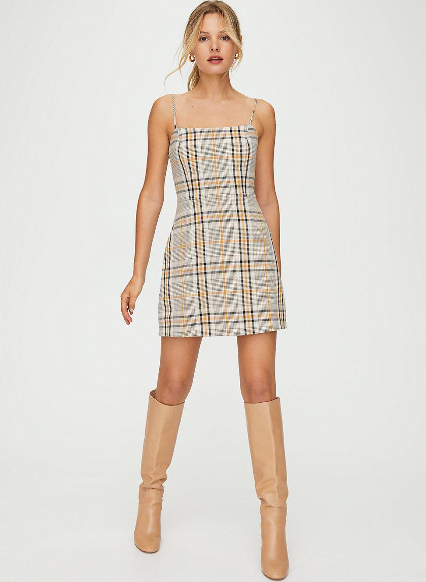 ISABELLE DRESS - '90s check mini dress
