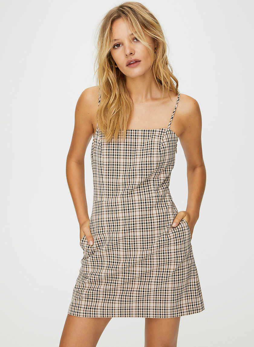 ISABELLE DRESS - '90s check mini dress